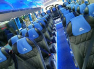 Coache Bus with Blue Seats